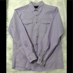 Marc Anthony lavender slim fit dress shirt for men